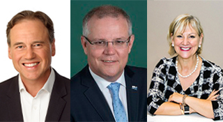 greg hunt - scott morrison - maree mccabe