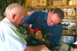 Shedders from the Cessnock Men's Shed and Community Garden in NSW's Hunter Valley, which welcomes men with dementia or men who care for someone with dementia