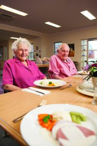 About 140 of LHI's residents who require a modified smooth puree diet now enjoy more attractive and appetising meals produced using the moulded texture-modified food process. Photo: LHI Retirement Services